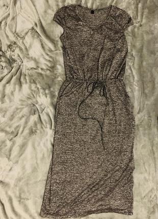 Серое спортивное платье