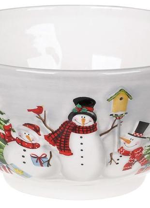 Салатник керамический новогодний 700мл