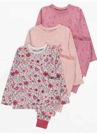 Пижама для девочки рр. 92-98, 116-134 george (джордж)