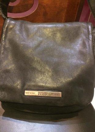 Кожаная сумка gianfranco ferre,оригинал,италия