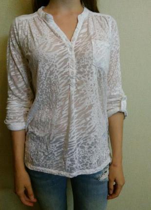 Блуза белая прозрачная atmosphere