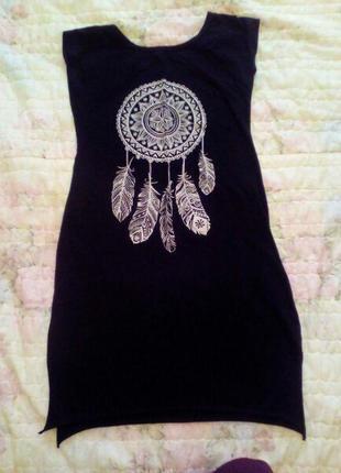 Черное платье с ловцом снов