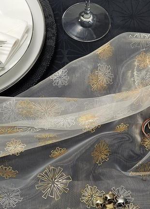 Шикарная воздушная скатерть для декора из органзы,145х300см тсм tchibo, германия