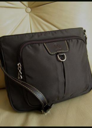 Vip болоневая + кожаная сумка кроссбоди на плечо – люкс бренд bogner – германия
