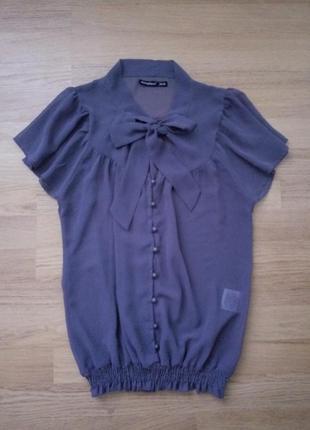 Легкая шифоновая блузочка с бантиком