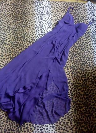Цвет баклажан.платье в пол.длинное ,женское платье с  бретелями
