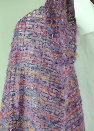 Красивый шарф-накидка мохер в красивих тонах,широкий,шаль,