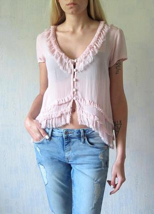 Очень красивая пудровая блузка