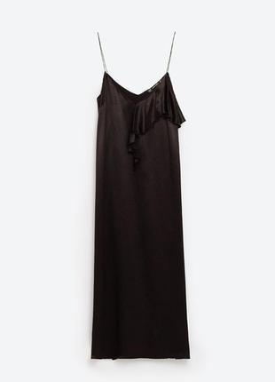 Миди платье в бельевом стиле zara