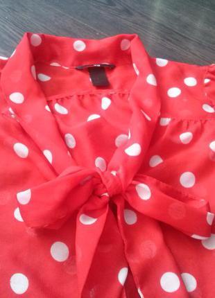 Стильная блузка в горошек