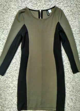 Короткое приталенное платье