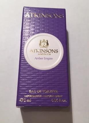 Ниша аромата atkinsons amber empire