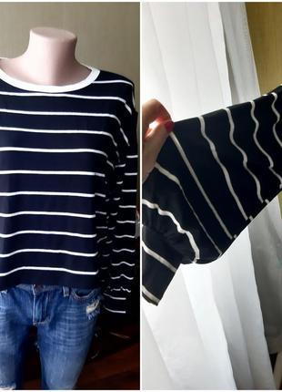 Укороченный свитшот свитер актуальный рукав