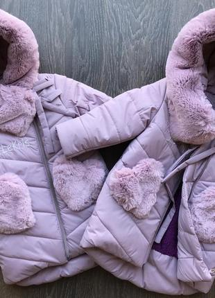 Курточка пальто пуховик зима