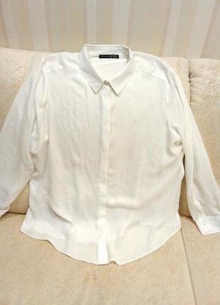 Белая шифоновая рубашка atmosphere