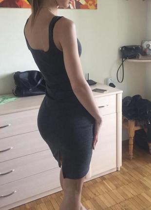 Платье майка серое