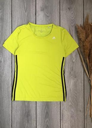 Adidas адидас футболка оригинал яркая неоновая  s 36 8