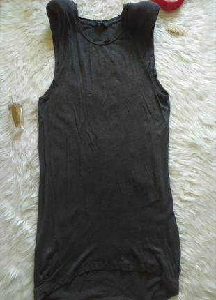Актуальное  трикотажное платье туника  майка с подплечниками обмен