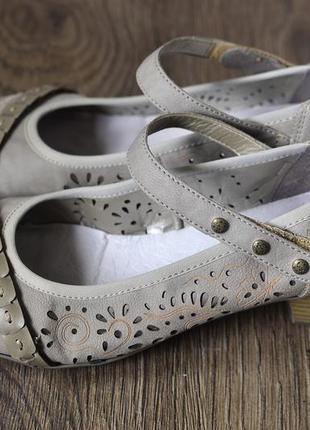 Туфельки rieker на устойчивом каблучке