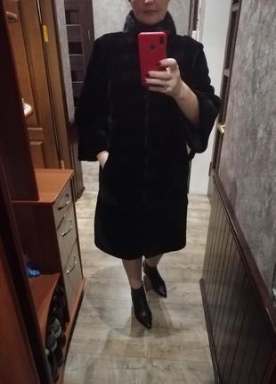 Шуба мутон+норочка