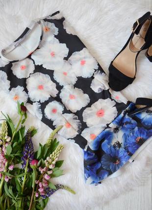Топ-баска zara в цветы