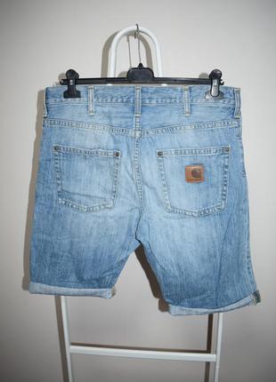 Шорты джинсовые carhartt slim bermuda