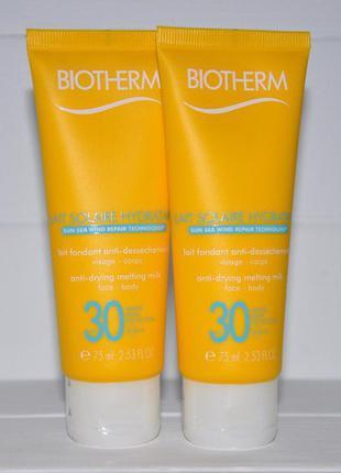 Солнцезащитное молочко для лица и тела biotherm lait solaire spf 30