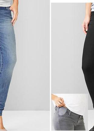 Чорні джинси для вагітних скіні gap