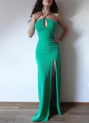 Платье asos макси изумрудного цвета от победительницы конкурса miss divine