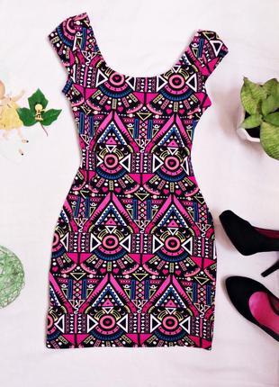 Стильное брендовое облегающее платье h&m