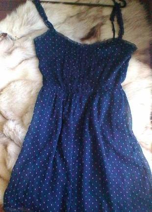 Супер платье в горошек zara