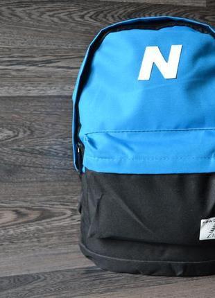 Рюкзак, сумка городской спортивный чёрный голубой