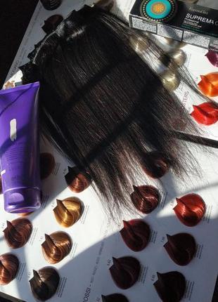 Трессы из натуральных волос: цвет шатен