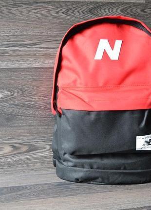 Рюкзак, сумка городской спортивный чёрный белый красный