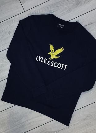 Свитшот lyle&scott с большим логотипом