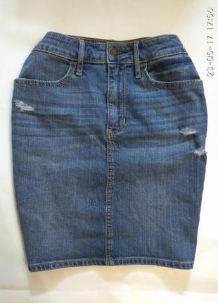 Джинсовая юбка hollister