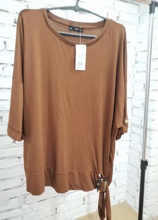 Новая коричнева блуза