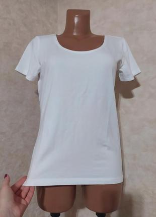 Белая базовая хлопковая футболка naturaline, m