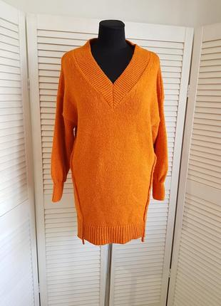 Теплое морковное платье river island
