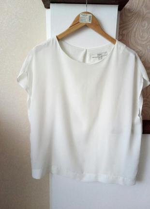 Белая блуза-футболка next