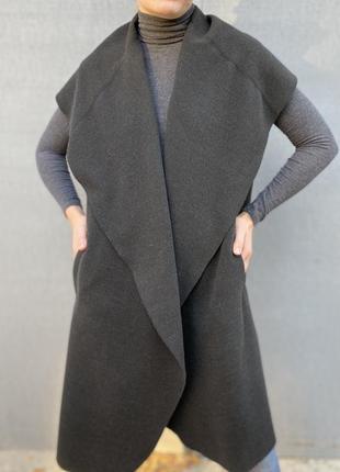 Супер стильная накидка / жилетка на тёплую осень