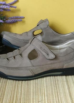 Шкіряні туфли-босоніжки waldlaufer