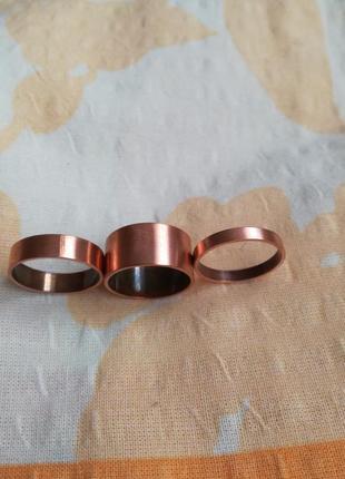 Набор медных колечек американка + кольцо в подарок