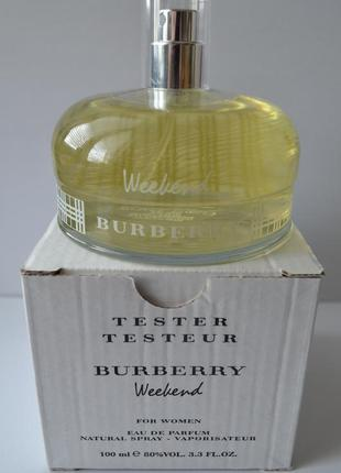 Burberry weekend for women парфюмированная вода тестер 100 мл франция оригинал