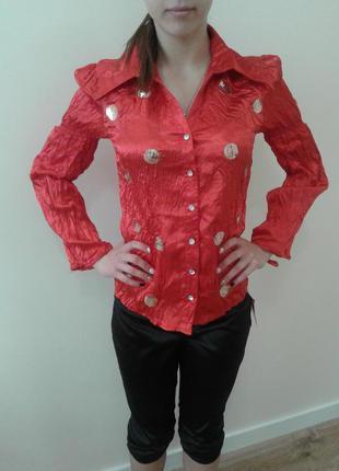 Блуза - рубашечный покрой