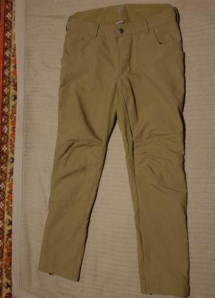 Зимние спортивные брюки песочного цвета quechua decathlon франция 36/32 р.