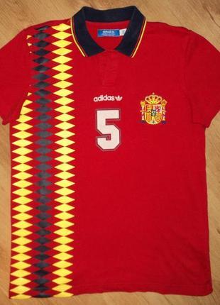 Футбольное поло adidas ретро сборная испании образец 1994 года