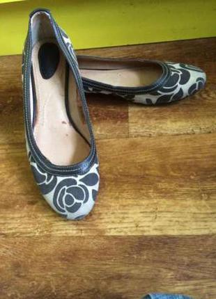 Стильные туфли балетки мокасины тестиль и кожа