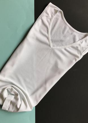 Белая спортивная майка / футболка от odlo