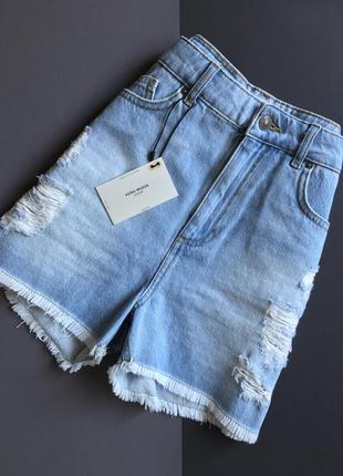 Крутые джинсовые шорты с высокой посадкой от vero moda новые